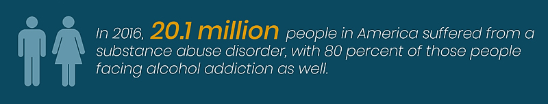 20.1 million people in America suffered from a substance abuse disorder