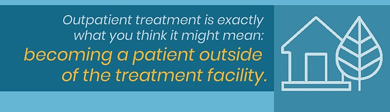 becoming a patient outside of the treatment facility